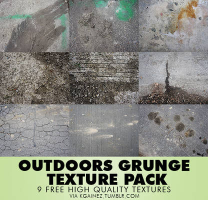 Outdoors Grunge Texture Pack