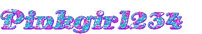 Pinkgirl234 glitter text