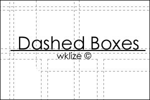 Dashed Boxes by WKLIZE
