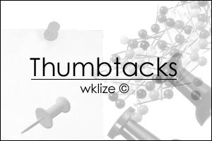 Thumbtacks by WKLIZE