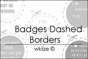 Dashed Borders Badges by WKLIZE