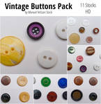 Vintage buttons Pack - 11 Stocks (30 buttons)