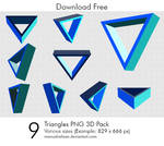 Triangles PNG 3D Pack