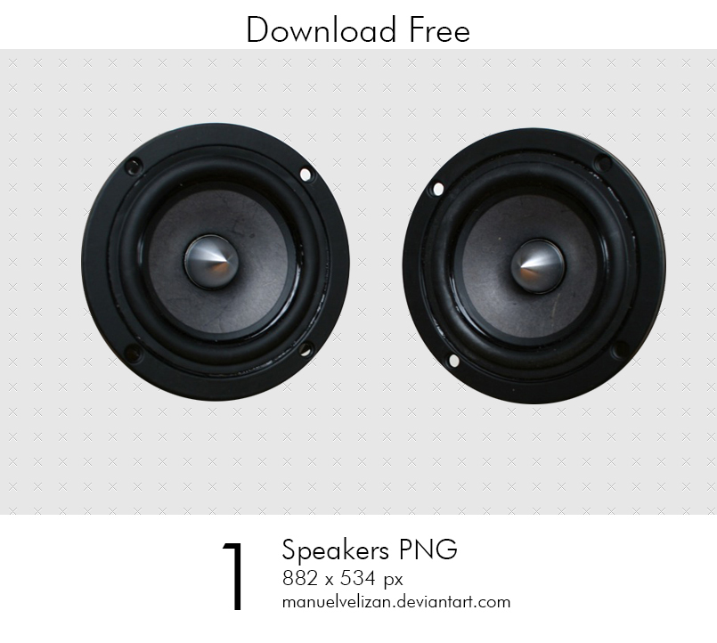 Speakers PNG by manuelvelizan