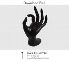 Black Hand PNG by manuelvelizan
