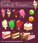 Cake and Cream Cute For Rainmeter (Skins)~