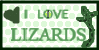 I LOVE LIZARDS Stamp by WindraWolf