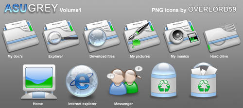 Azugrey png icons vol.1