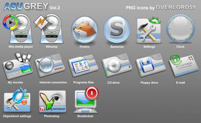 Azugrey png icons vol.2