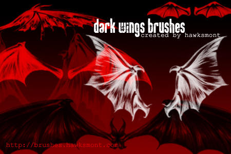 Dark Wings Brushes by hawksmont