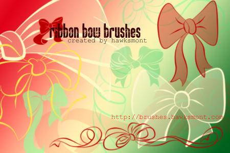 Ribbon Bow Brushes