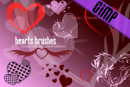 GIMP: Hearts by hawksmont