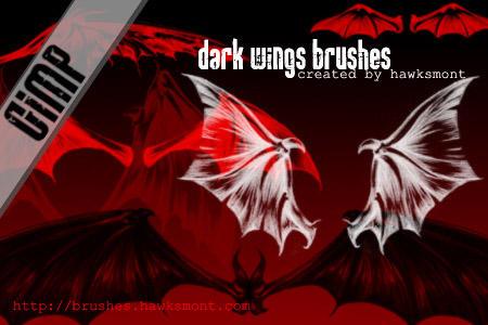 GIMP: Dark Wings by hawksmont