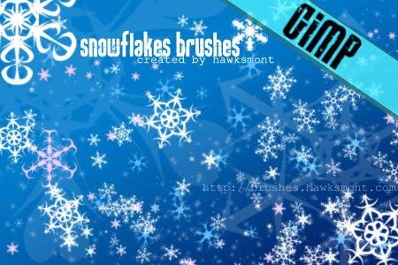 GIMP: Snowflakes by hawksmont