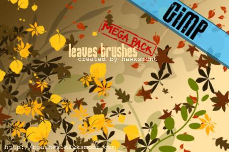 GIMP: Leaves MEGA PACK
