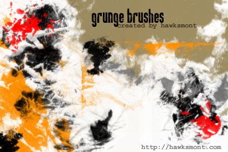 Grunge brushes part 1 by hawksmont