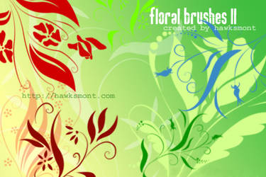 Floral brushes II by hawksmont