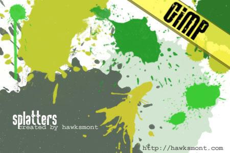 GIMP: Splatters by hawksmont