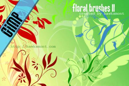 GIMP: Floral II by hawksmont