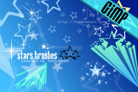 GIMP brush Stars by ~hawksmont