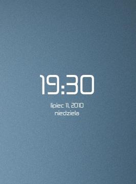 Zekton Conky Clock by Mloodszy