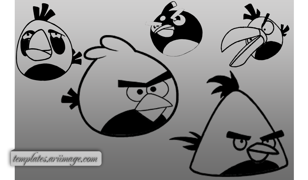 Angry Birds Shapes by ariimage
