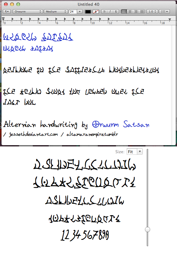 Handwritten Alternian Font By Jesseth
