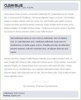 Journal Skin - Clean Blue by allykun