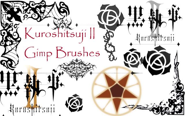 Kuroshitsuji II GIMP Brushes by ShiRo-AneMone