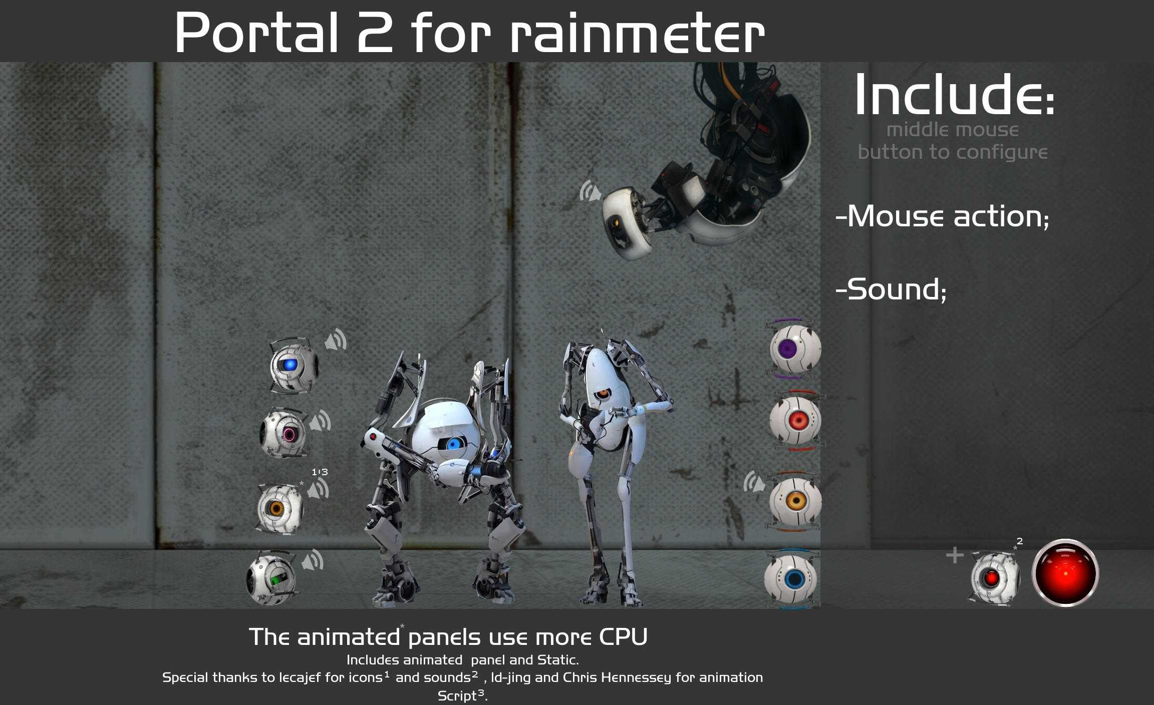 Portal 2 For Rainmeter By Pedro9666 Portal 2 For Rainmeter By Pedro9666
