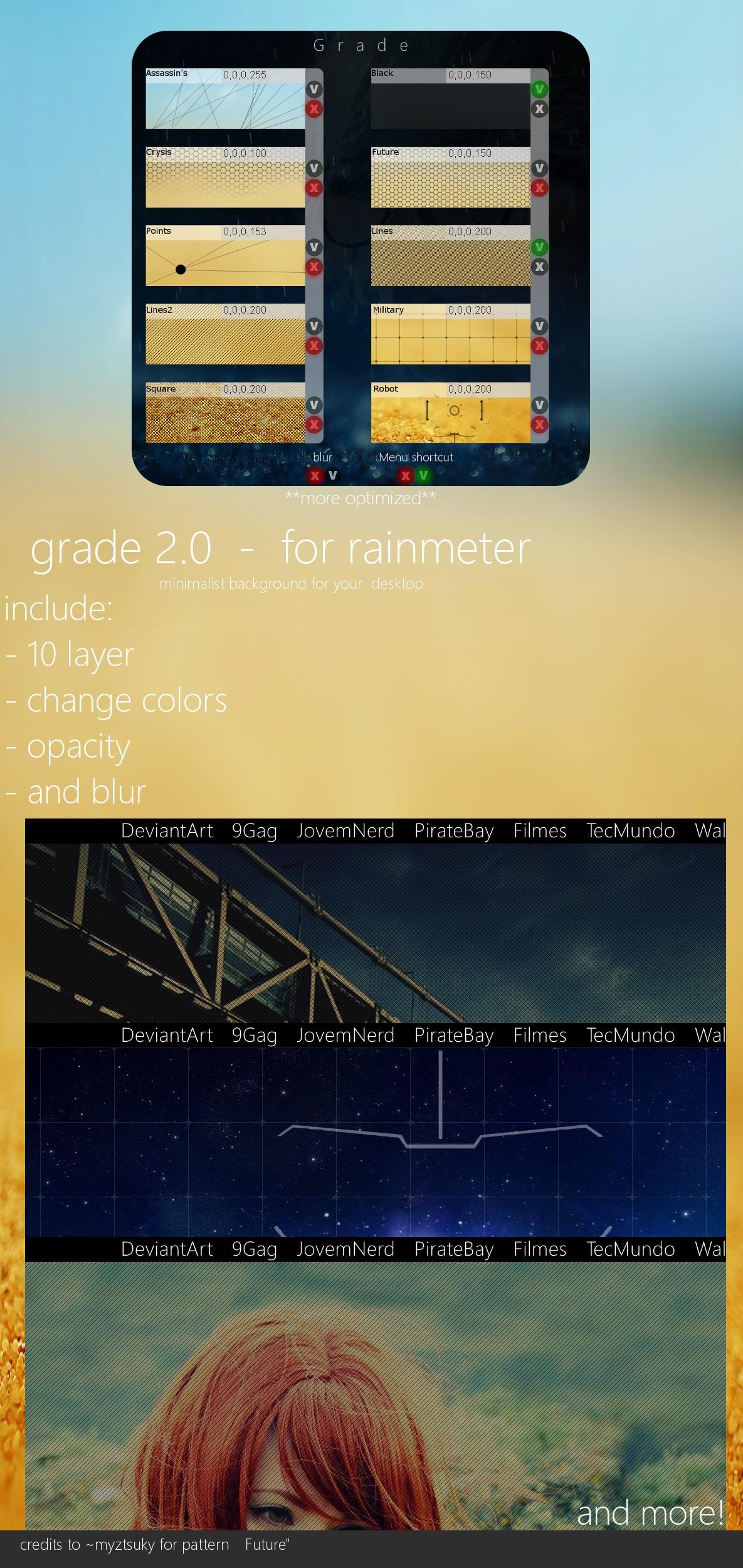 Grade 2.0  for Rainmeter by Pedro9666
