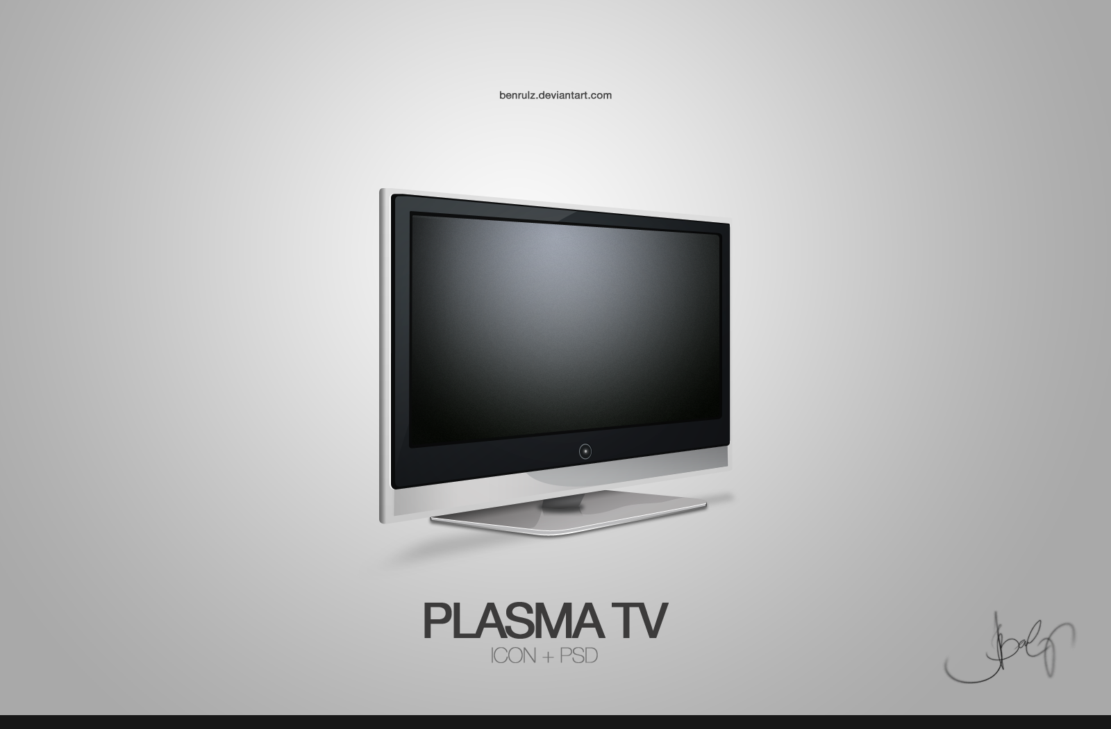 icon plasma tv by benrulz on deviantart. Black Bedroom Furniture Sets. Home Design Ideas