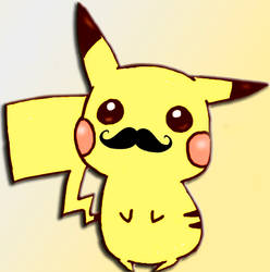 Pikachu Moustache by jonatking