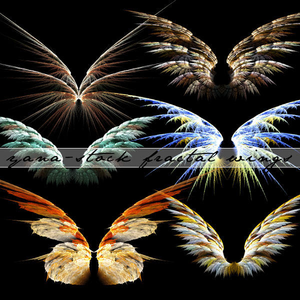 Fractal Wings Pack by yana-stock