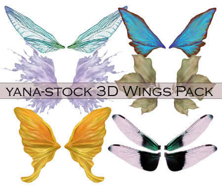 3D Stock - Wings Pack by yana-stock