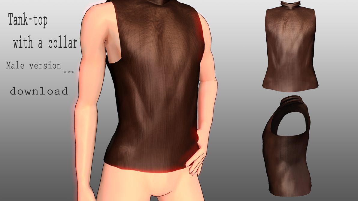 Tank-Top with a collar Male DL by Stylc