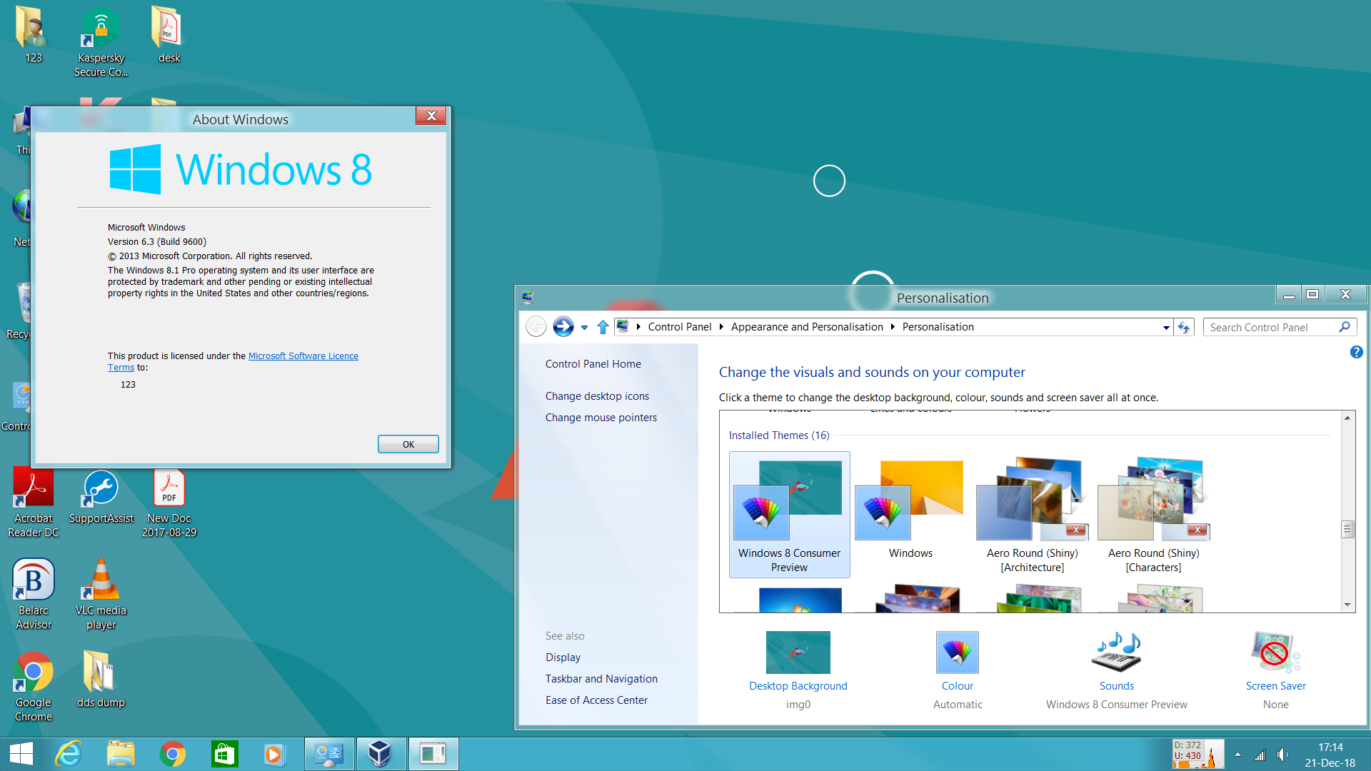 Windows 8 Consumer Preview Vs For Windows 8 1 1 By