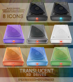 translucent HD drives icons