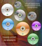 Translucent CD drives icons