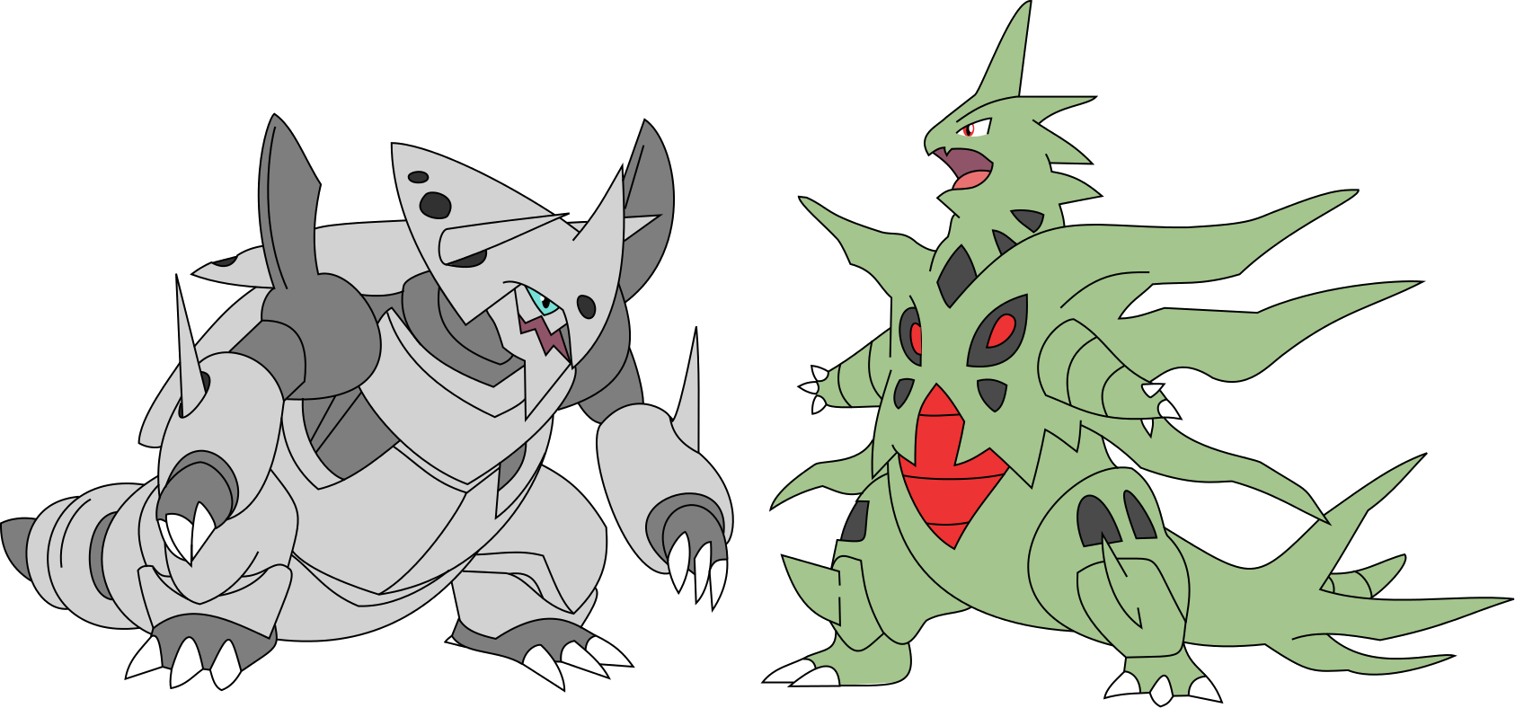 Mega Aggron and Mega Tyranitar by ObsidianBlack555 on ...