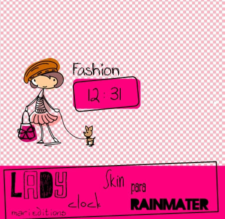 Lady Clock Skin Para Rainmeter by maarii03189