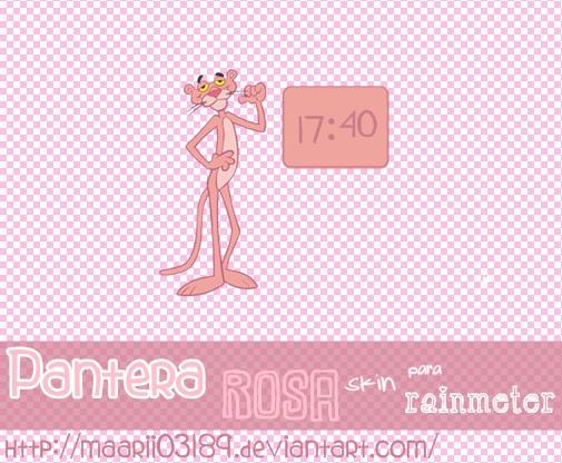 Pantera Rosa Skin Para Rainmeter by maarii03189