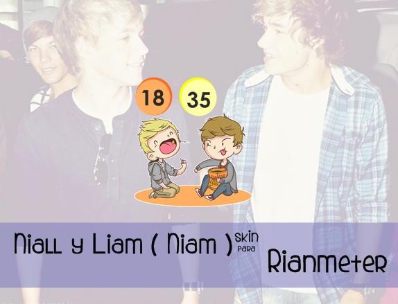 Niall Horan y Liam Payne (Niam)Skin Para Rainmeter by maarii03189