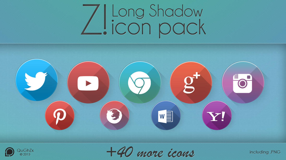 Z! Long Shadow icon pack by QuGhZx