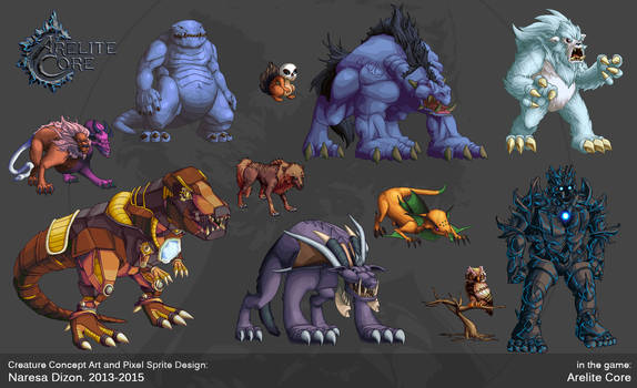 Creature Concept Art Pixel Sprite