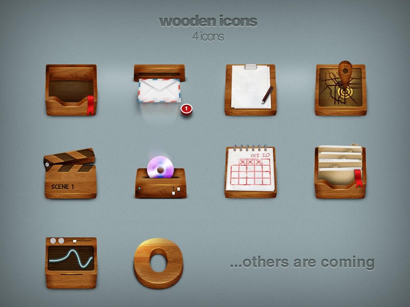 Wooden icons by Pakito77