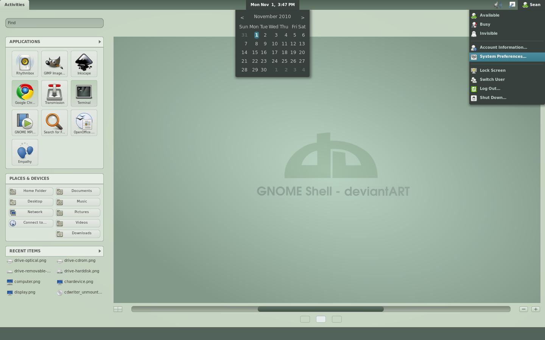 GNOME Shell deviantART