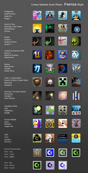 Games Icon Pack - Faenza Style