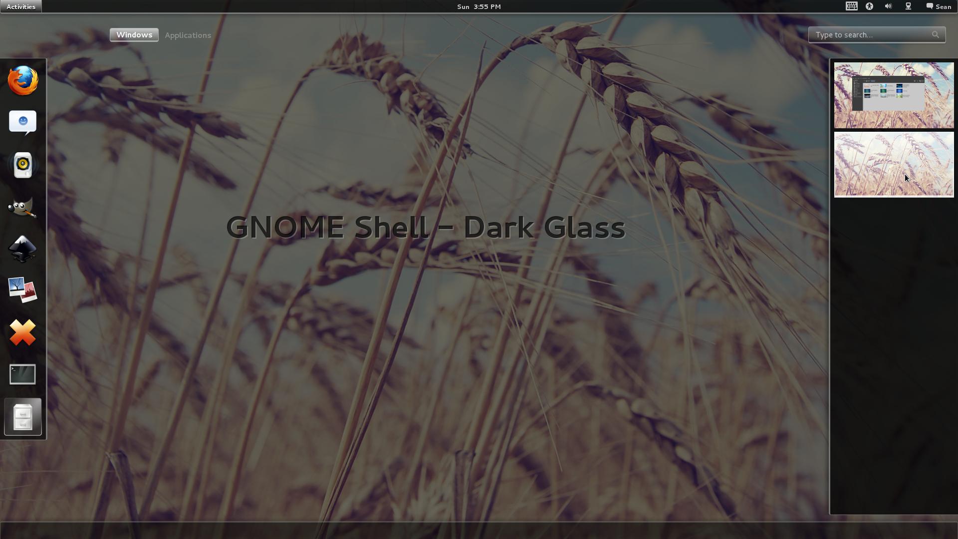 GNOME Shell - Dark Glass