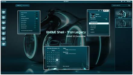 GNOME Shell - Tron Legacy